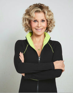 Jane Fonda Black / Lime Zip Front Jacket