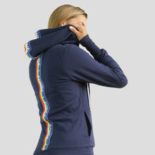 Load image into Gallery viewer, Jane Fonda Navy Rainbow Hoodie (Plus-Size)