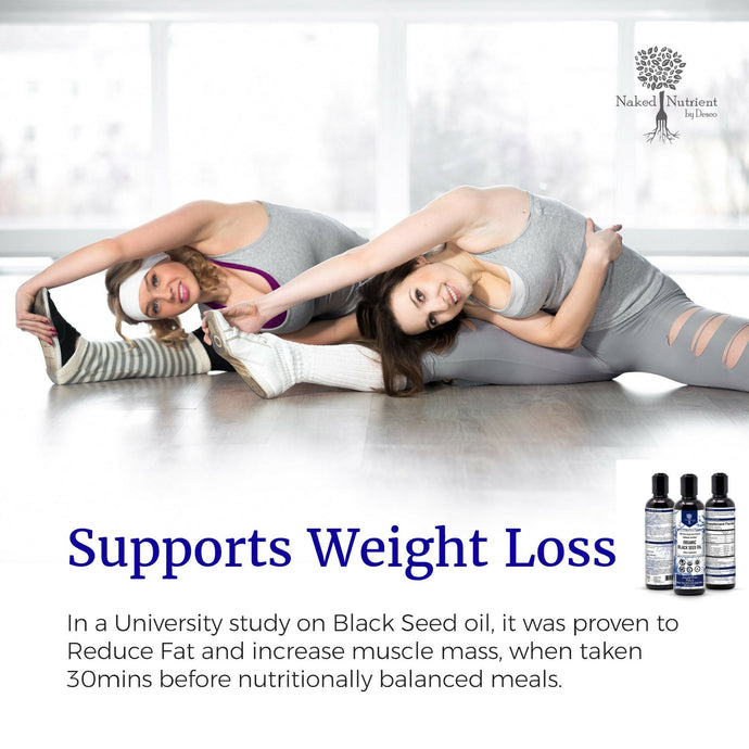Promotes Weight Loss with Organic Black Seed Oil