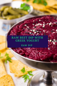 Raw Beet Dip with Greek Yogurt