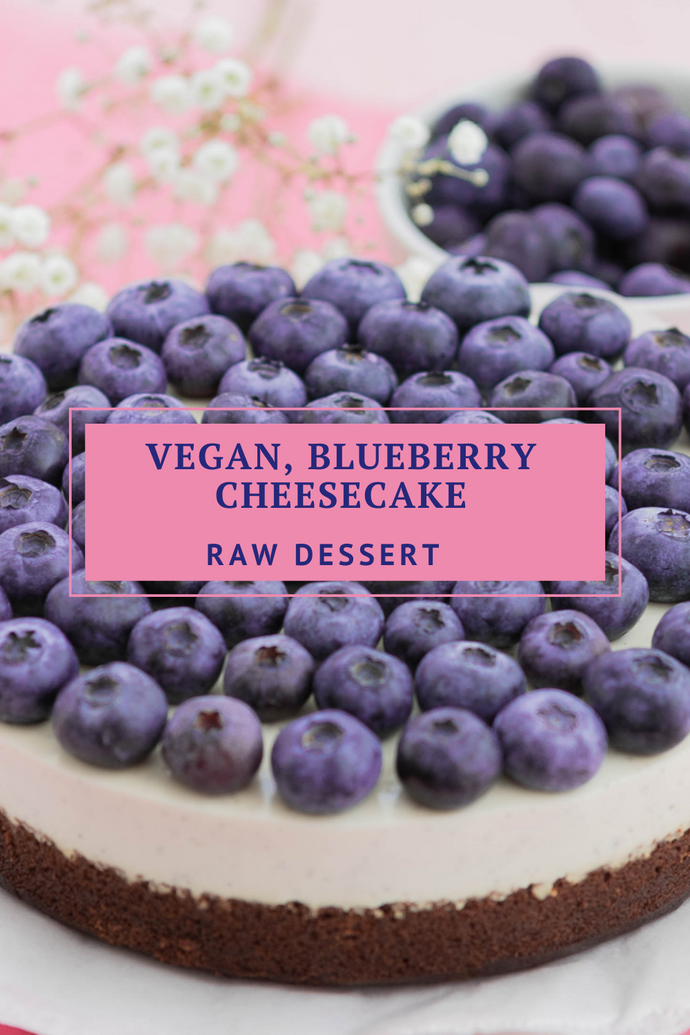 Vegan, Blueberry Cheesecake