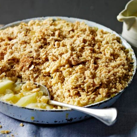 raw apple crumble