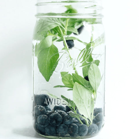 blueberry basil water