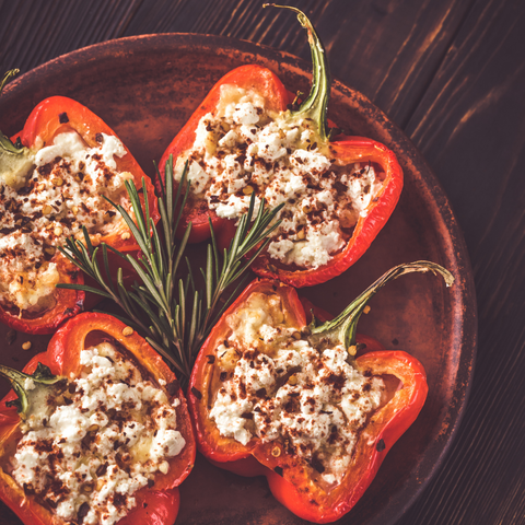 Stuffed pepper with Mushrooms and Feta cheese
