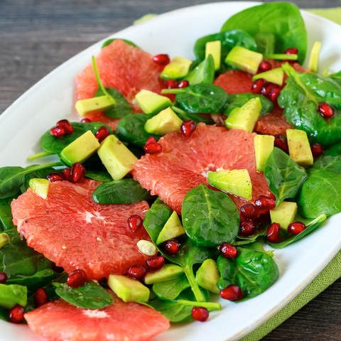 Grapefruit Pomegranate Avocado Salad