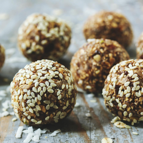 tahini and peanut butter protein ball bliss ball