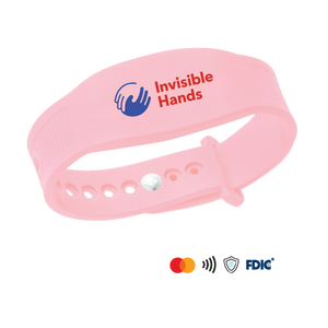 Purewrist GO Bracelet Bundle Invisible Hands Pink (Includes $10 Preloaded Money)