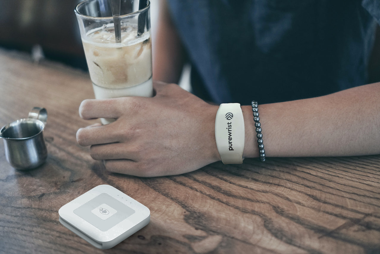 Purewrist GO Bracelet Bundle Invisible Hands Pink (Includes $25 Preloaded Money)