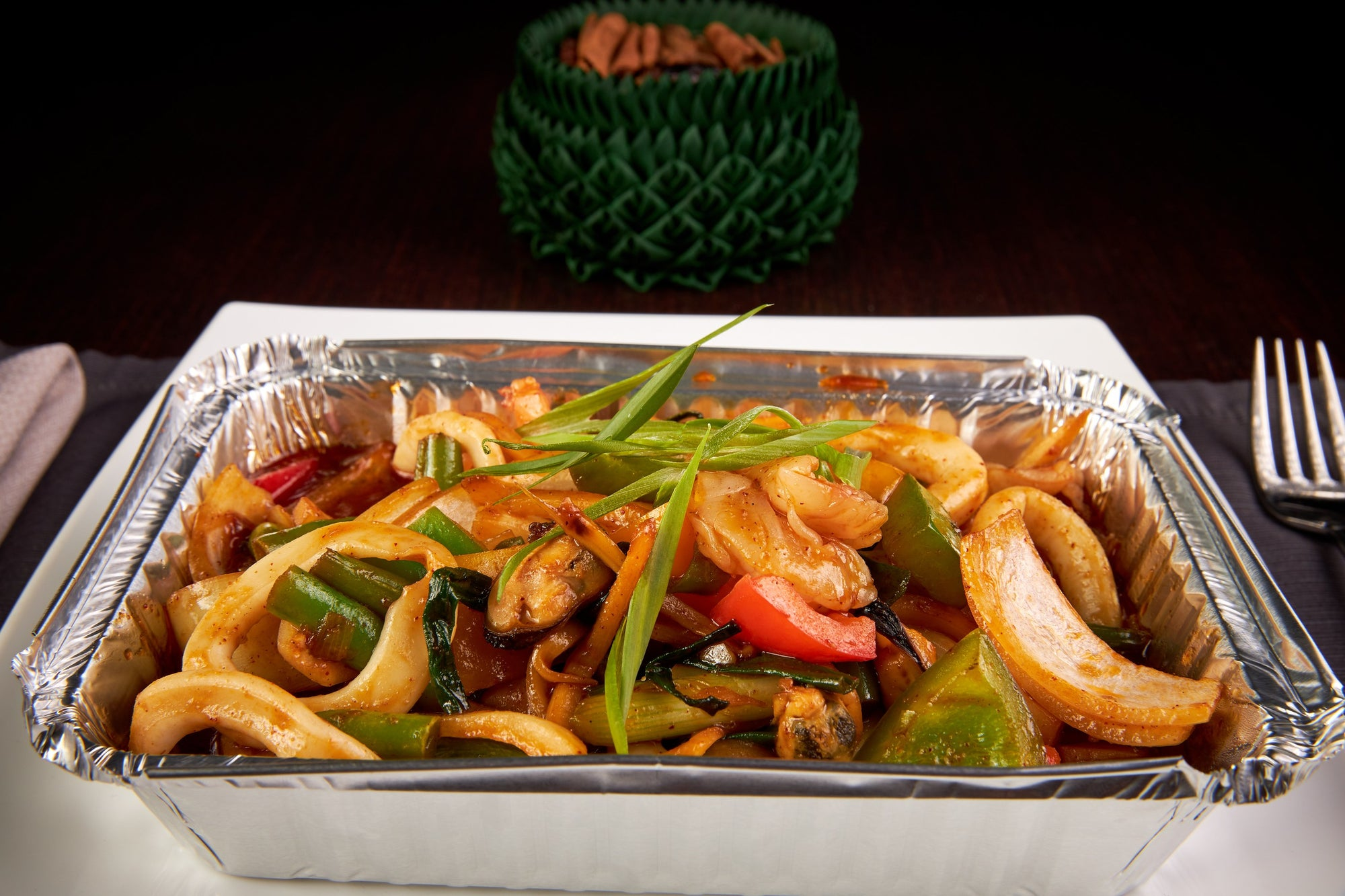 Stir Fried Seafood in Sweet Chilli Paste
