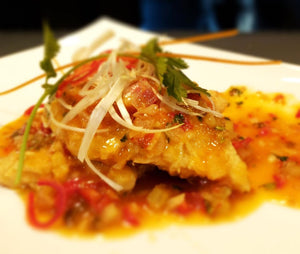 Chili fish with pineapple sauce