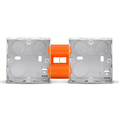 Spectra Switch Box 70x70x35mm, 2gang with plastic coupler, Pack of 10 - Tri Spectrum online