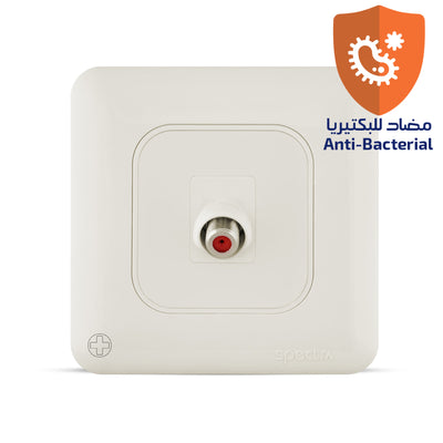 Spectra Almas Angular Satellite Socket  1Gang Antibacterial - Tri Spectrum online