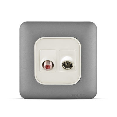 Spectra Almas Signal Connector Combination Angular TV+Sattelite socket. Colored - Tri Spectrum online