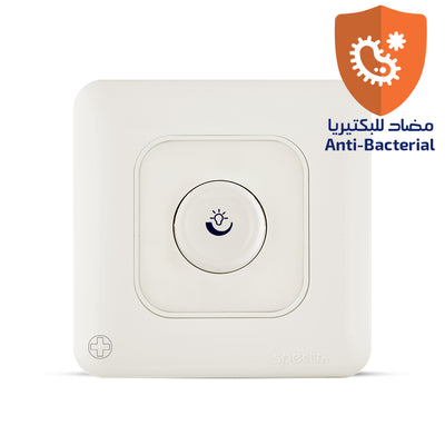 Spectra Almas Dimmer 1000W 240V 1way 1gang Rotary Type Antibacterial - Tri Spectrum Online