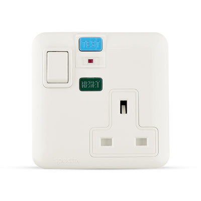 Spectra Almas 13A 240V 1gang double pole switched socket with 30mA RCD - Tri Spectrum online