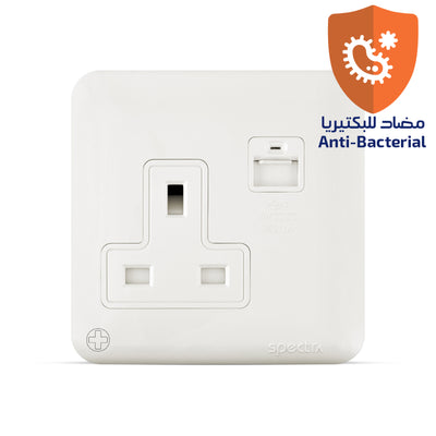 Spectra Almas 13A 250V Socket with USB outlet Antibacterial - Tri Spectrum online