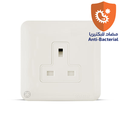 Spectra Almas 13A 250V 1gang Socket without switch Antibacterial - Tri Spectrum online