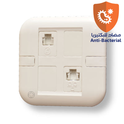 Spectra Perla Signal Connector Combination R45+RJ11 Antibacterial - Tri Spectrum online