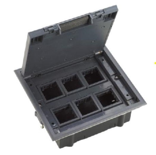 Spectra Perla Floor Mounted 6gang Open type Floor boxes - Tri Spectrum online