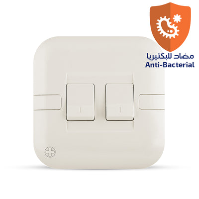 Spectra Perla Switch 20A 250V SP 2Way 2Gang Antibacterial - Tri Spectrum Online