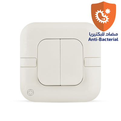 Spectra Perla Plus Switch 20A 250V SP 2Way 2Gang Antibacterial - Tri Spectrum Online