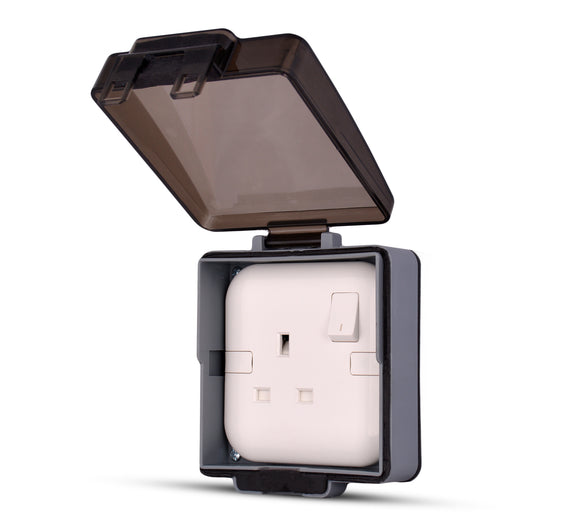 Spectra Perla Weather Proof Enclosures IP56 1gang for socket, wall mounted - Tri Spectrum online