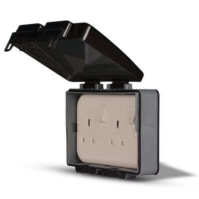 Spectra Perla Weather Proof Enclosures IP56 2gang for socket, wall mounted - Tri Spectrum online