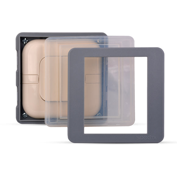 Spectra Perla Weather Proof Enclosures IP56 1gang for switch with plastic mounting box - Tri Spectrum online