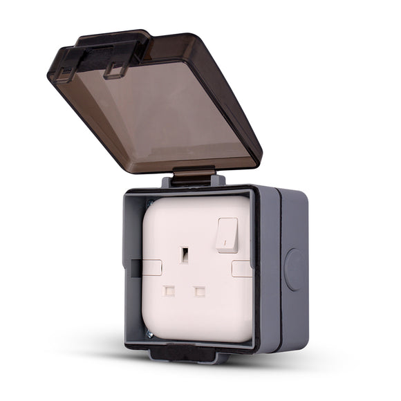 Spectra Perla Weather Proof Enclosures IP56 for 1gang socket with plastic mounting box - Tri Spectrum online