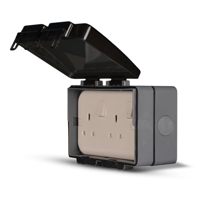 Spectra Perla Weather Proof IP56 Enclosures for 2gang with plastic mounting box - Tri Spectrum online