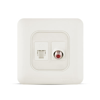 Spectra Almas RJ11 6P6C and Angular Satellite socket - Tri Spectrum online