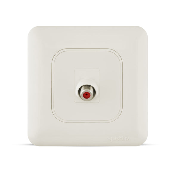 Spectra Almas Angular Satellite Socket 1Gang - Tri Spectrum online