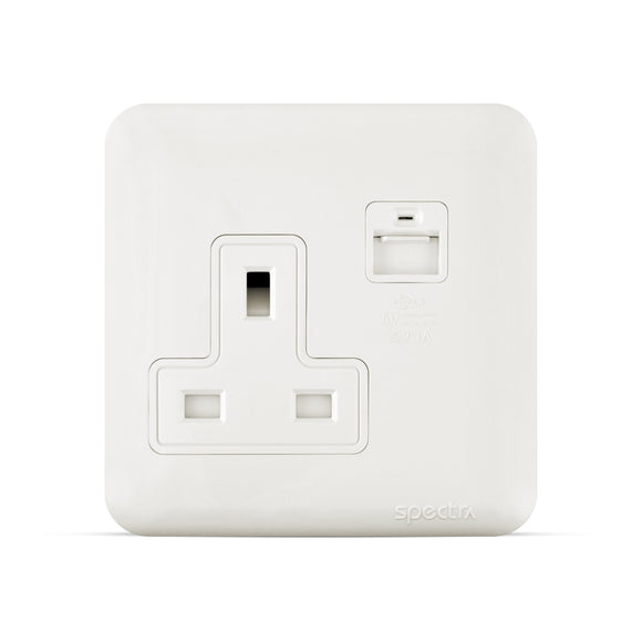 Spectra Almas 13A 250V Socket with USB outlet - Tri Spectrum online