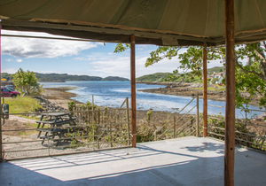 The view from the Pie Shack at Lochinver Larder