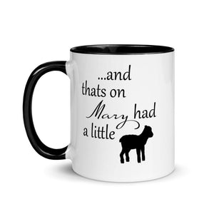 And thats on Mary had a little lamb mug - Mahogany Queen
