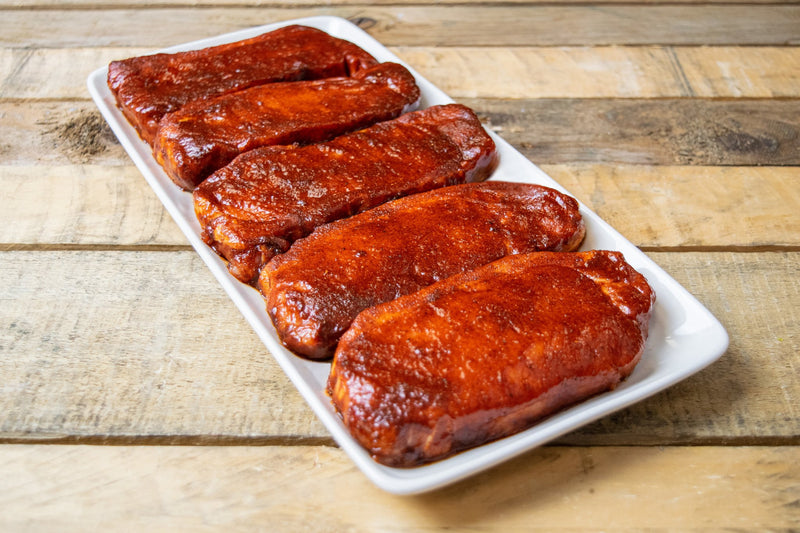 Pork Loin Steaks 5 x 6oz (170g) In BBQ glaze - Birtwistles Catering Butchers