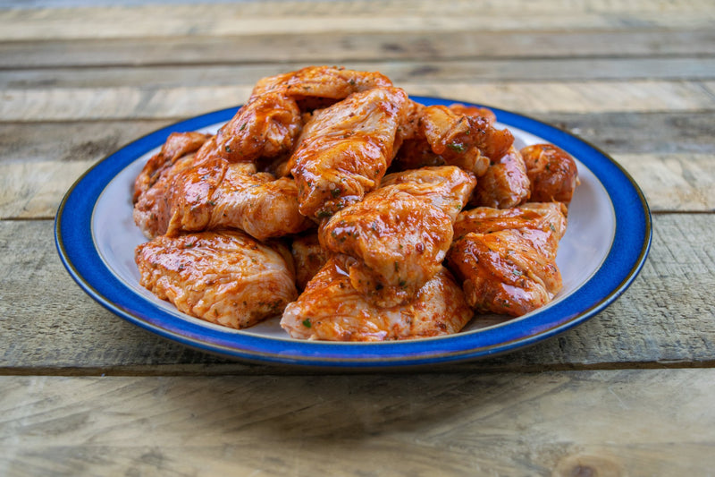 Chicken Wings In Piri-Piri glaze (1kg pack) - Birtwistles Catering Butchers