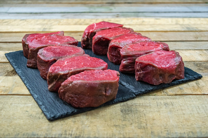 Beef Fillet Steaks 10 x 7oz (198g) Dry Aged - Birtwistles Catering Butchers