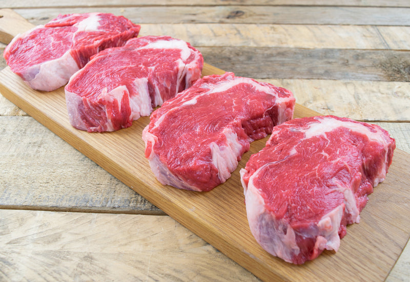 Beef Rib Eye Steaks 4 x 8oz (227g) Aged Min. 35days - Birtwistles Catering Butchers