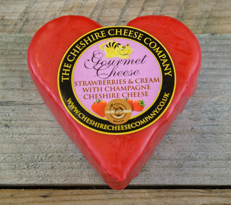 GOURMET CHEESE - Strawberries & Cream with Champagne Cheshire Cheese 150g - Birtwistles Catering Butchers