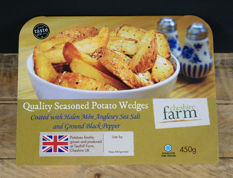 Quality Seasoned Potato Wedges with Salt and Pepper 450g - Birtwistles Catering Butchers