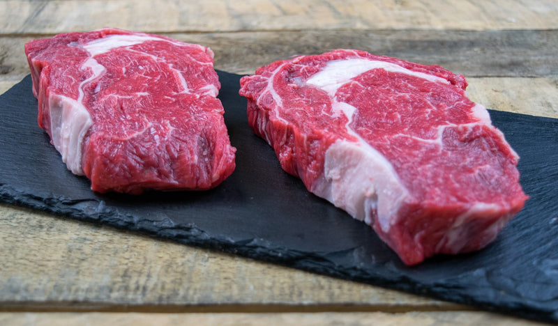 Beef Rib Eye Steaks 2 x 8oz (227g) - Birtwistles Catering Butchers