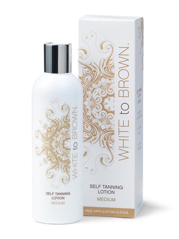 White to Brown Self Tanning Lotion