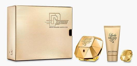 Lady Million EDP 50ml Body Lotion 75ml & Mini