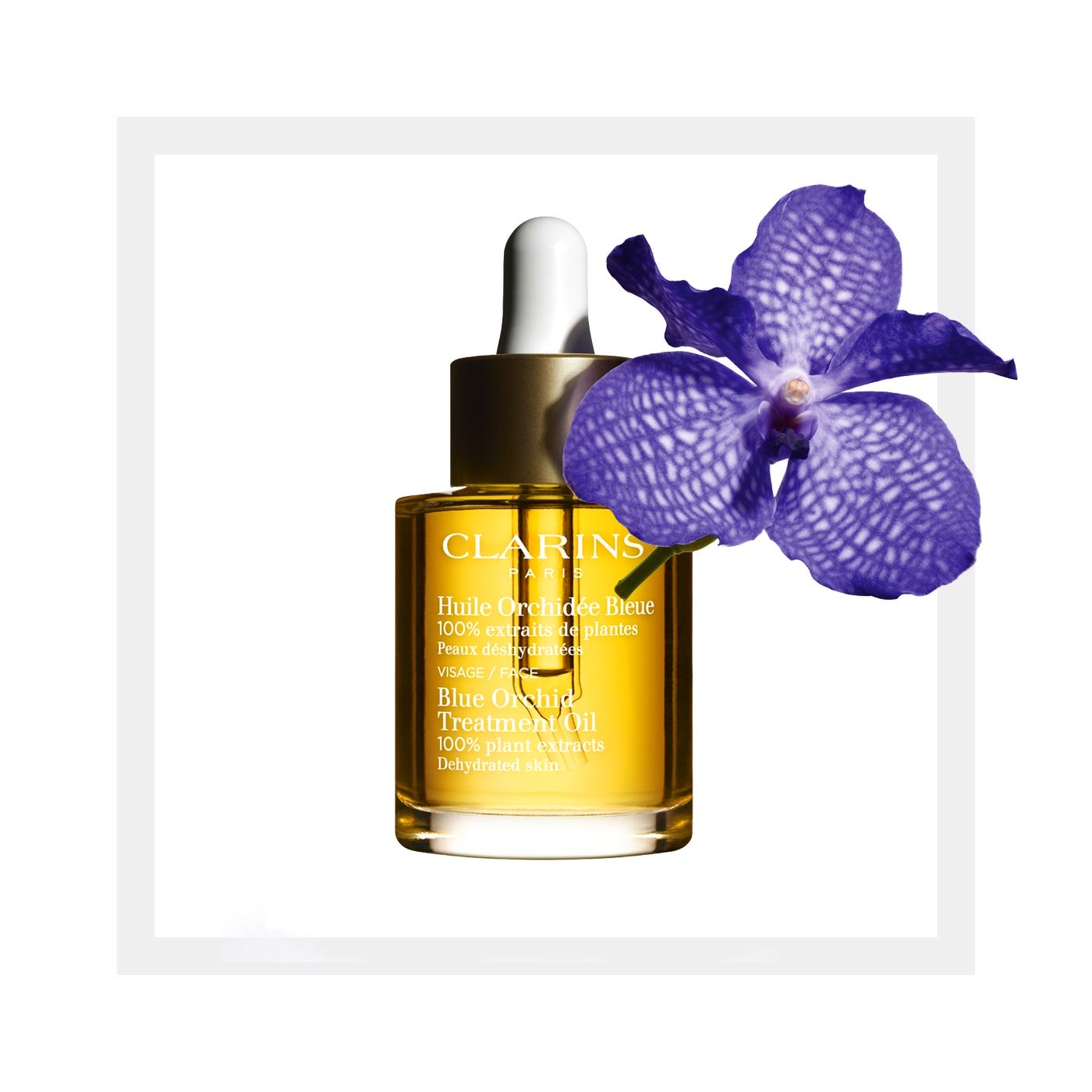 Clarins Blue Orchid Face Oil Dehydrated - 30ml
