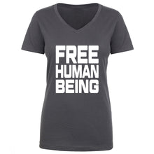Load image into Gallery viewer, TFHBP - FREE HUMAN BEING - First Amendment Edition - Womens V-Neck