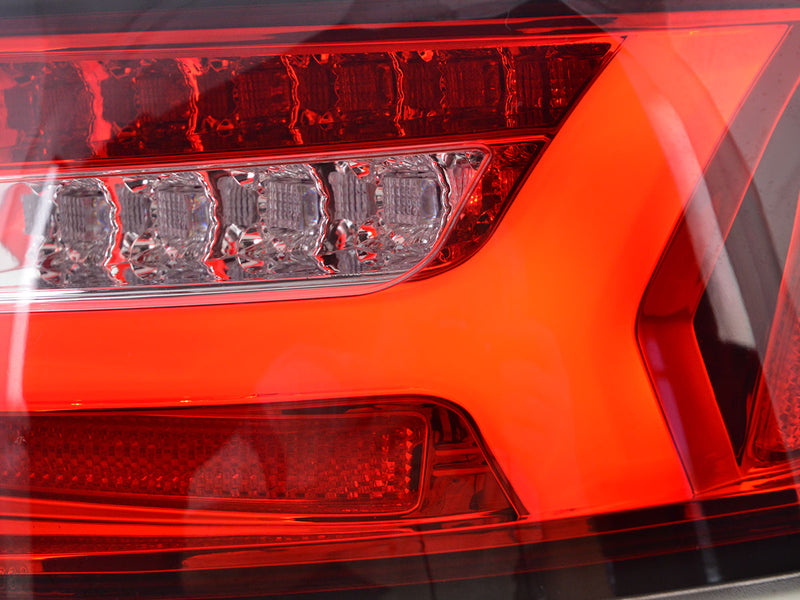 LED rear lights Lightbar Audi A6 4F saloon Yr. 08-11 red/clear