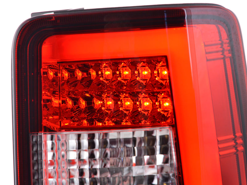 LED rear lights Lightbar VW Caddy 2K year 03-15 red/clear