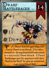 Load image into Gallery viewer, Dwarf Battle Rager! Professionally pre-supported for easy printing! Pit Fighter Champion Card included!