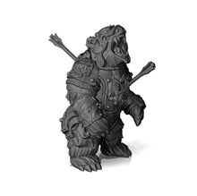 Load image into Gallery viewer, Armored Warbear with Battle Damage - Professionally pre-supported for easy printing!